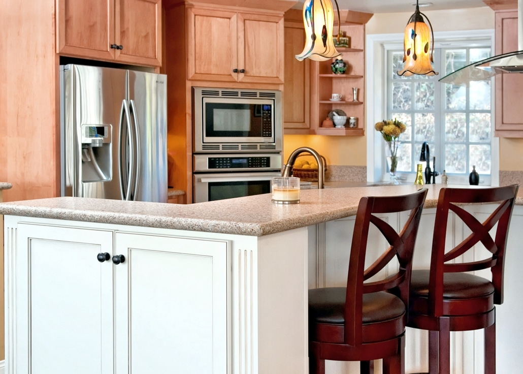 spacious family kitchen
